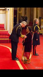 Dr. Geetha Upadhyaya receives OBE recognition